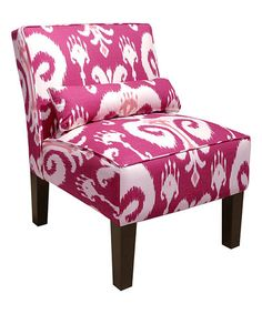 This Raspberry Himalaya Armless Chair is perfect! #zulilyfinds