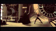 Luke Skywalker and Darth Vader, Return of the Jedi (i think).