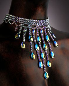 Serena Crystal Choker DCX605 | Dancesport Fashion @ DanceShopper.com