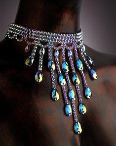 Serena Crystal Choker DCX605 | Dancesport Fashion @ DanceShopper.com