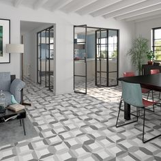 VIVES Azulejos y Gres - Floor tiles gres terrazzo effect tiles Brenta Espace Design, Terrazzo Tile, Cement Tiles, Art Nouveau, Tile Showroom, Italian Tiles, Interior Architecture, Interior Design, Encaustic Tile