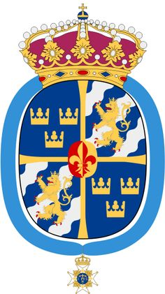 Coat of arms of Queen Silvia of Sweden. Mystery Of History, Classic Paintings, Knights Templar, Family Crest, Crests, Coat Of Arms, Badge, Symbols, Queen Silvia