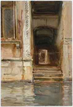 John Singer Sargent I Venetian Passageway I ca. 1905