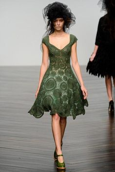 Couture Crochet dress.  One day.