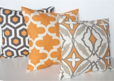 HOLIDAY SALE 3 Decorative Throw Pillow Covers. by thebluebirdshop, $43.35