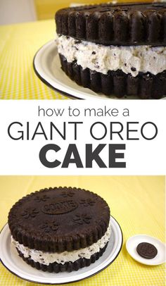 Exclusive Picture of Oreo Birthday Cake Recipe . Oreo Birthday Cake Recipe How To Make A Giant Oreo Cake Diy Recipes And Tips From Oreo Cookie Cake, Oreo Cookies, Chocolate Oreo Cake, Cupcakes, Cupcake Cakes, Köstliche Desserts, Delicious Desserts, Dessert Recipes, Oreo Dessert