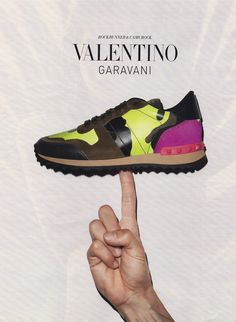 Electrified camouflage: Women's Running Sneaker by Valentino Garavani - FW 2013