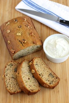 Banana zucchini bread. This is an easy recipe, that uses one bowl, no eggs and comes out consistently each time and to top it all off – it's delicious.