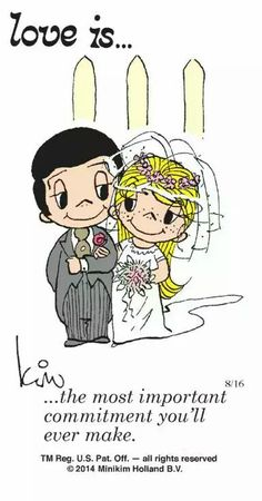 Love is.❤️ the most important commitment you'll ever make .I love you baby Love Is Cartoon, Love Is Comic, Marriage Relationship, Love And Marriage, Relationships, Happy Marriage, What Is Love, Love You, My Love