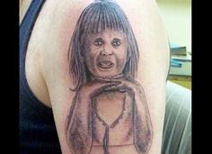 22 Unfortunately (and Hilariously) Awful Portrait Tattoos - I'm just going to throw this out there. Take it or leave it. But there are some things that you don't want to budget-shop for. Like portrait tattoos of people you love. Funny Baby Images, Funny Dog Photos, Funny Pictures For Kids, Funny Dog Videos, Blog Pictures, Nomes Para Shih Tzu, Tattoos Partner, Really Bad Tattoos, Awesome Tattoos