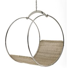 For Sale on - This contemporary adult swing is a specialty chair by Egg Designs, it has a stainless steel frame and a synthetic wicker seating shell. Wicker Swing, Egg Swing Chair, Swinging Chair, Tub Chair, Swing Chairs, Hanging Chairs, Swing Seat, Pink Desk Chair, Contemporary Bar Stools