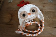Crochet chicken hat made to order by katiemack22 on Etsy, $27.00