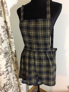 Sugermint Green Plaid Short Overalls Woman's M Punk Skater Grunge Emo Hot Topic #sugarmint #shortoveralls