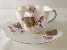 Shelley Dainty Tea Cup & Saucer by TheEclecticAvenue on Etsy