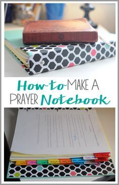 A step-by-step tutorial teaching you how to make your own prayer notebook and gratitude journal. It's simple to set up and effective at keeping you consistent in your prayer time!