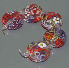 Funky & Floral Handmade Lampwork Glass Beads by Fluidglassartbeads, £19.95