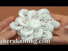 Crochet Double Layered Flower Tutorial 135 - YouTube