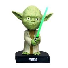 yoda bobble. I have this on my desk at work :)
