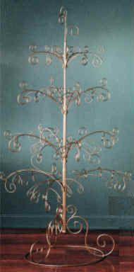 Ormanent trees, ornament display, ornament hooks, metal Christmas tree, low price