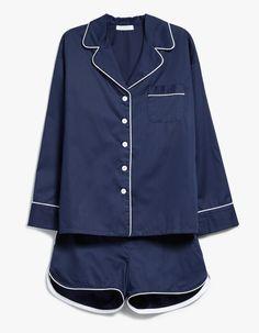 Sleeper Navy PJ Shorts Set