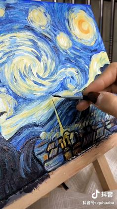 Van Gogh painting – Hobbies paining body for kids and adult Easy Canvas Art, Small Canvas Art, Mini Canvas Art, Diy Canvas, Arte Van Gogh, Canvas Painting Tutorials, Gouache Painting, Encaustic Painting, Acrylic Art