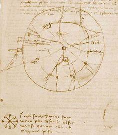 MILANO   1482 - 1499   Leonardo da Vinci, Pianta e veduta prospettica