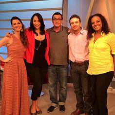 Anna, Maria, Tom, Felipe e Flávia