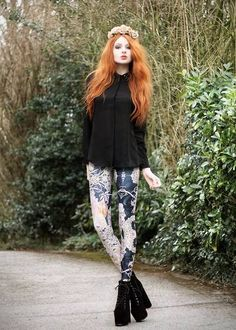 Mucha Black Leggings | Black Milk Clothing - Model: Olivia Emily #Blackmilk #Blackmilkclothing