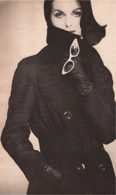 Anne St.Marie  Mysterious Flirtation  Black silk Murray Nieman trench with May:Kobley & Stern sunglasses  photography Tom Palumbo