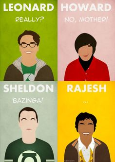 Minimalist Big Bang Theory Poster. Also my inspiration for Halloween costumes. I want to dress up as Amy  Farrah Fowler.
