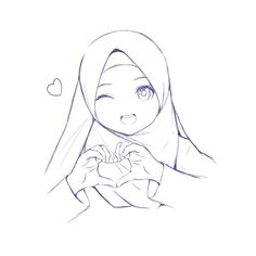 Girls Cartoon Art, Sketches, Hijab Drawing, Black Girl Magic Art, Art, Cute Cartoon Wallpapers, Girl Drawing Sketches, Chibi Drawings, Cartoon Art