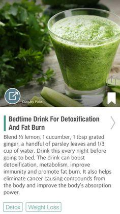 Bedtime Drink For Detoxification And Fat Burn - via @CureJoy