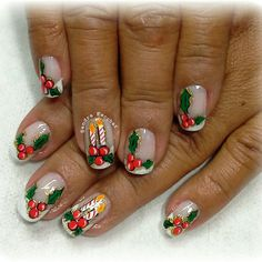 Holiday Nail Art, Christmas Nail Designs, Christmas Nail Art, Christmas Themes, Fingernail Designs, Nail Art Designs, Nails 2018, Xmas Nails, Winter Nails