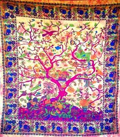 Tree of Life Tapestries Hippie Wall Hanging by AbeerHandicraft, $19.99