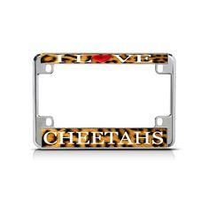 Shop over license plate frames, license plates and motorcycle license plate frames. Motorcycle License, Motorcycle Bike, Custom License Plate Frames, Cheetahs, Mall, Chrome, My Love, Cheetah