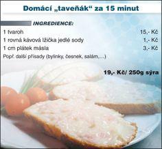 Levně a chutně s Ladislavem Hruškou - Domácí Salty Foods, How To Make Cheese, Finger Foods, Mozzarella, Cantaloupe, Food And Drink, Menu, Homemade, Fruit