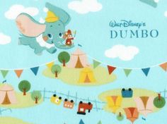 Dumbo, Japanese Cotton Fabric; if anyone has some for sale, let me know!