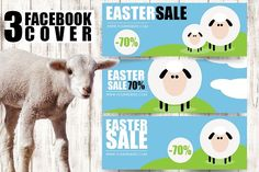 #Easter #Facebook Timeline Cover Pack by Flotas Media Market on @creativemarket