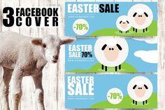 #Easter #Facebook Timeline Cover Pack by Flotas Media Market on @creativemarket