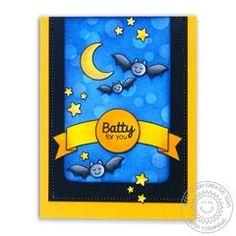 Sunny Studio Halloween Cuties Bat Card by Mendi Yoshikawa