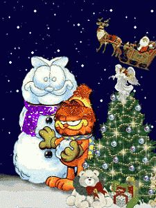 Drawing Garfield and Odie at Christmas  Scribble Drawing