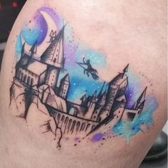 Hogwarts Harry Potter tattoo