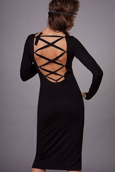 VALENTINE'S DAY SALE /Black dress pencil/knitted dress/midi dress/party evening/long sleeves/elegant woman wear/evening classic/Bodycondress