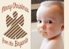 Snow Angel Printable Photo Gift Tags  sheet of 8 by MelindaBryantPhoto, $5.35  Christmas, holiday, fun, grandparent gift, neighbor present, baby, children, custom, personalized, stripes