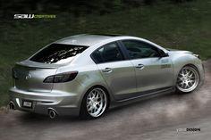 body kits Mazda 3 sedan | Mazda 3 2010_kit prop. Rear by ~yasiddesign on deviantART