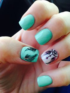 dream catcher & feather nails!
