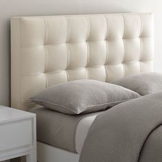 Unbuttoned, Grid-tufted Headboard With Geometric Detailing