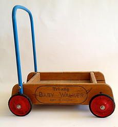 Vintage Wooden Triang Trolley/Baby Walker