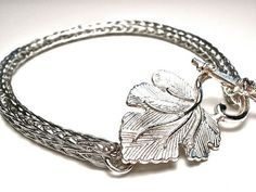 Woodland Viking Knit Bracelet by OddsAndEndsByKaley on Etsy