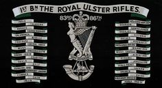 Bn The Royal Ulster Rifles British Army Uniform, British Uniforms, Military Units, Military History, Drums Art, British Armed Forces, Irish, Crests, Rifles